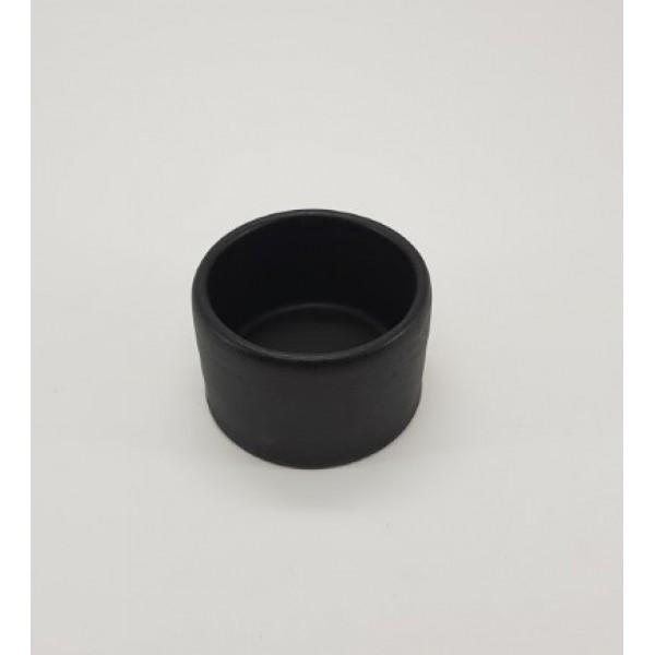 Соусник керамический высокий, 100 мл, d-7 см, h-4 см, черный матовый