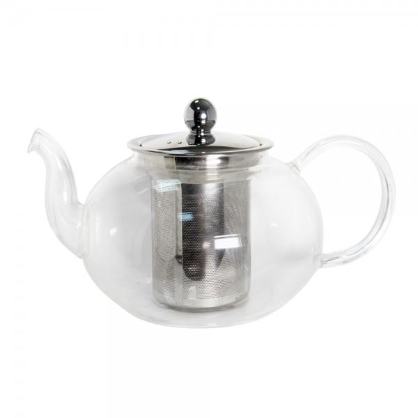 Стеклянный чайник с металлическим заварником 1,6 л