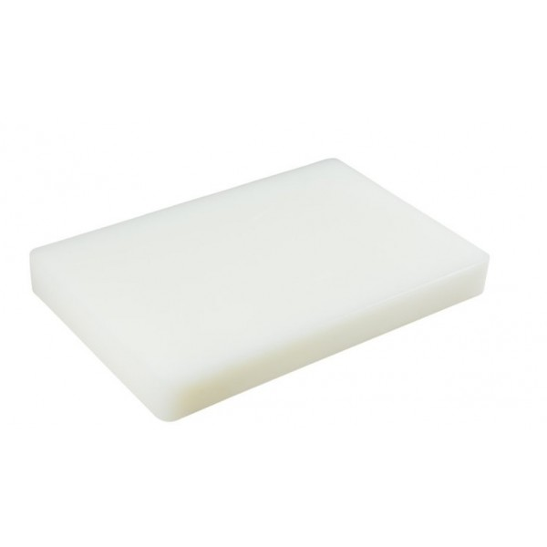 Доска разделочная пластиковая белого цвета 440*300*50 мм
