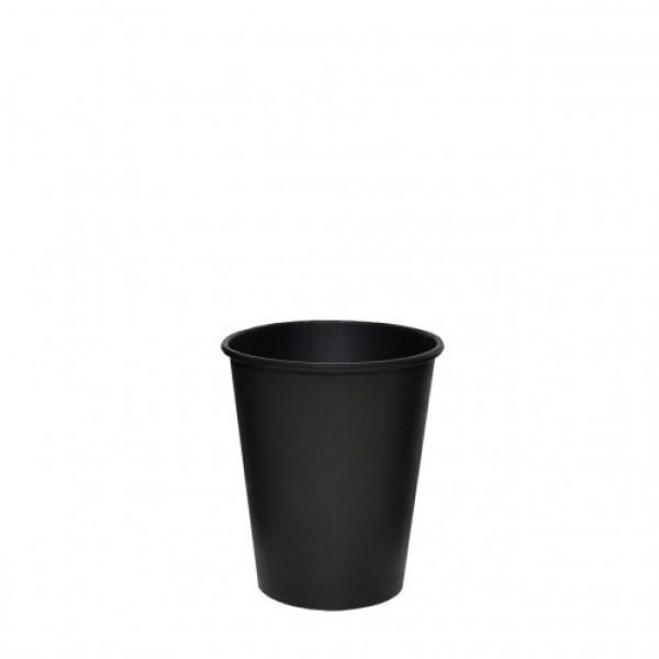 Бумажный стакан черный РЕ 250 мл (50 шт/уп)