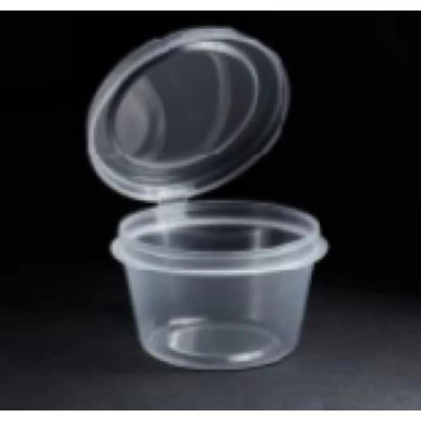 Соусник с неразъемной крышкой, круглый, полупрозрачный 30мл (80шт/уп)