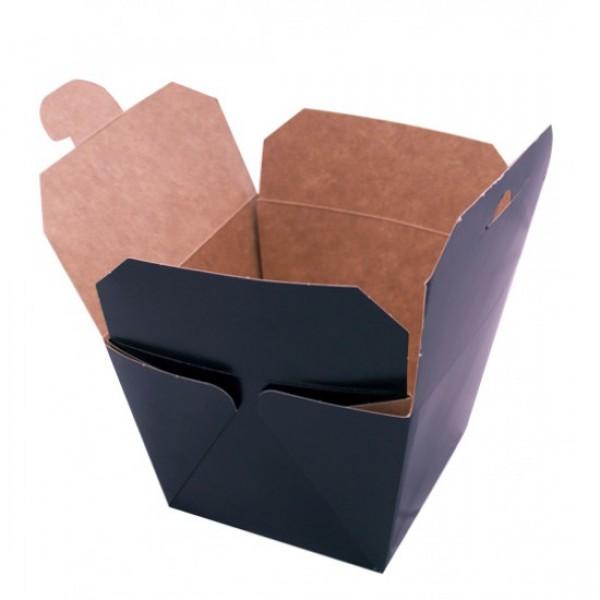 Крафтовая коробка для WOK черная, 700 мл, 85*85*82,5 мм (50 шт/уп)