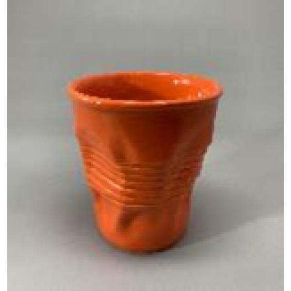 Стакан мятый, керамика, 270 мл, оранжевый