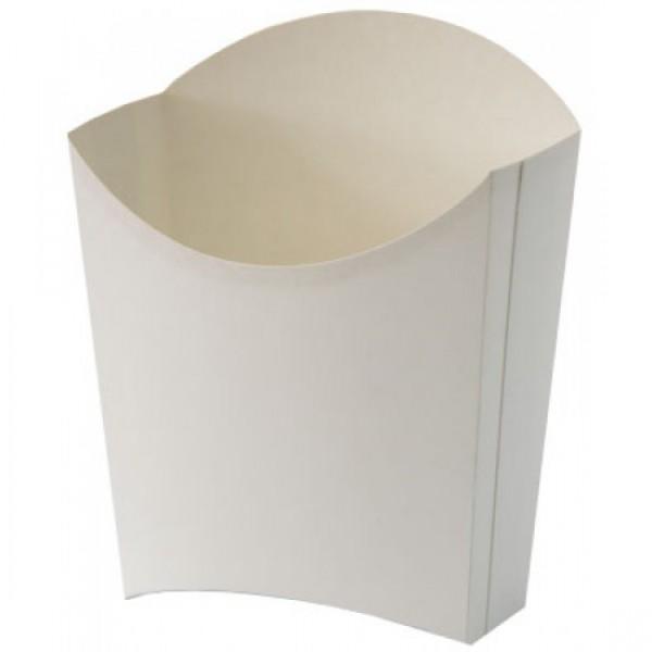 Белая коробка для картофеля-фри, маленькая, 65*115 мм (100 шт/уп)