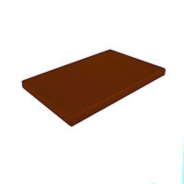 Профессиональная разделочная доска с желобом, коричневая, 32,5х26,5х2 см