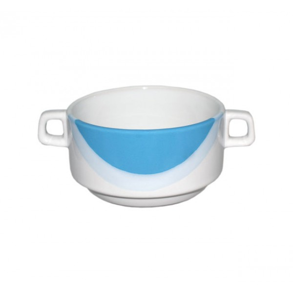 Бульонница бело-голубая 400 мл