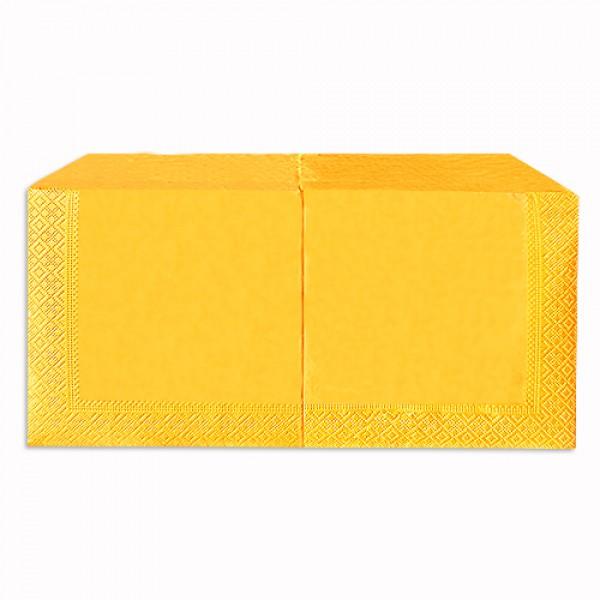 Салфетка 2-х слойная 33х33 см желтая (250шт/уп)
