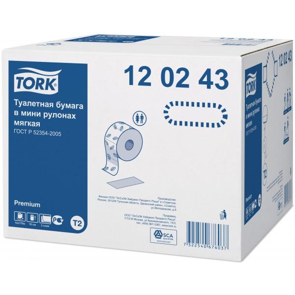 Tork т/бумага в мини рулонах 170 м. 2 сл.,