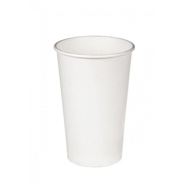Бумажный стакан белый 250 мл (50 шт/уп)