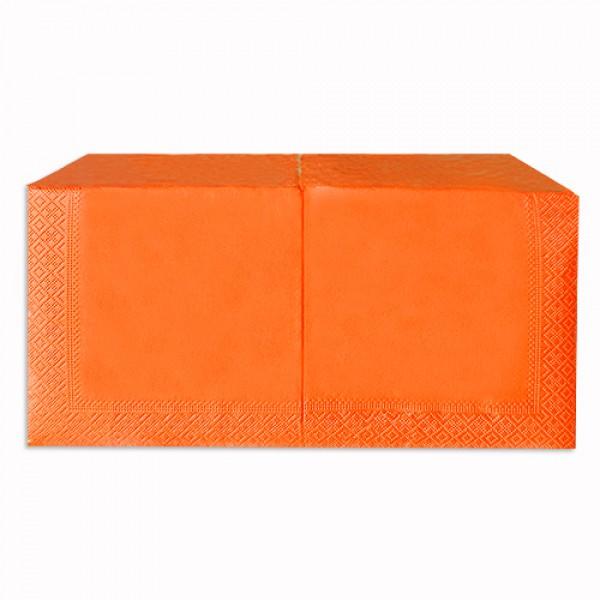 Салфетка 2-х слойная 33х33 см оранжевая (250шт/уп)