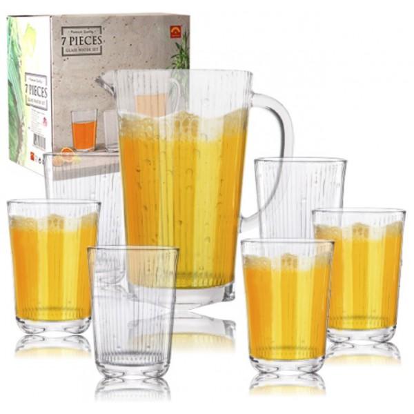 Набор для напитков (графин - 1,6 л, 6 стаканов по 400 мл)