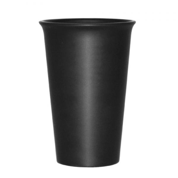 Стакан керамический черный  440 мл