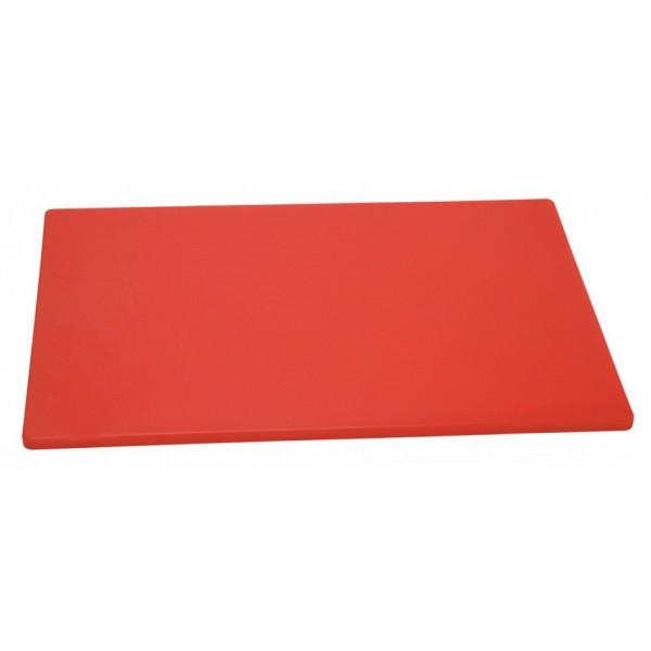 Профессиональная разделочная доска красная, 32,5х26х2 см