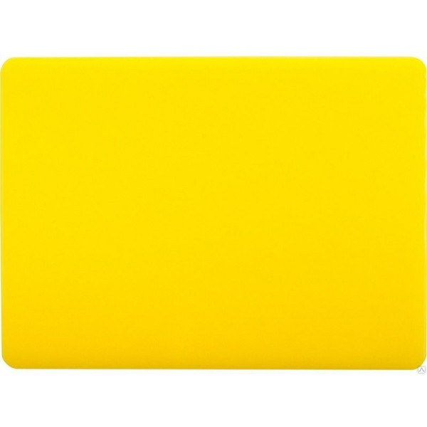 Профессиональная разделочная доска желтая, 32,5х26х2 см