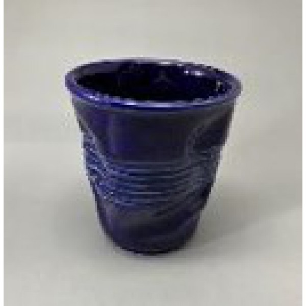 Стакан мятый, керамика, 360 мл, синий