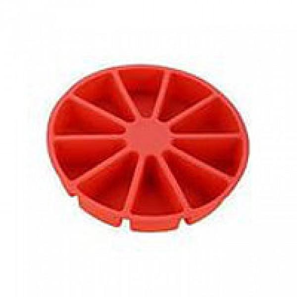 Силиконовая форма для пироженого 30 см, красная