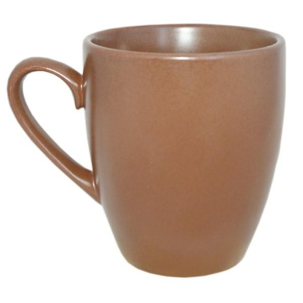 Чашка керамическая коричневая