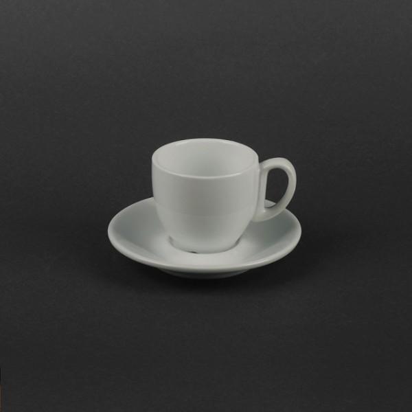 Кофейный набор керамика - чашка 80 мл с блюдцем