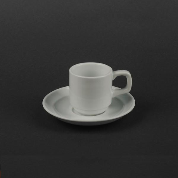 Набор кофейный керамика: чашка 90 мл + блюдце