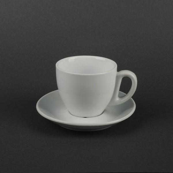 Чайный набор белый: чашка 250 мл с блюдцем