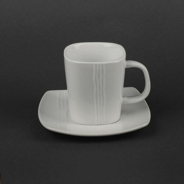 Чайный набор квадратный: чашка 250 мл + блюдце