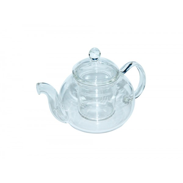 Стеклянный чайник со стеклянным заварником, 1100 мл