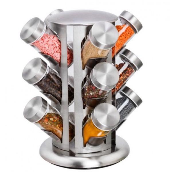 Органайзер для специй на 13 стеклянных емкостей
