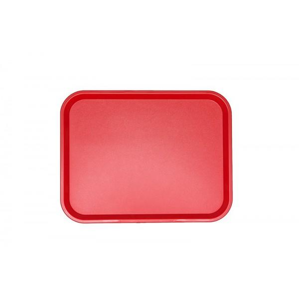 Поднос пластиковый 45,6х35,6 см красный