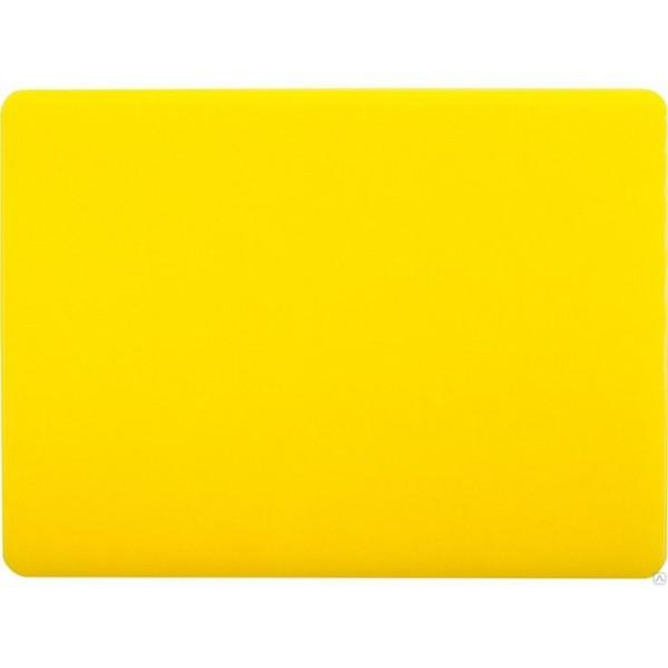 Профессиональная разделочная доска желтая 60х40х2 см