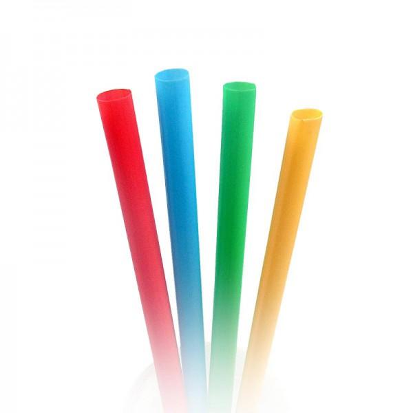 Трубочки для смузи цветные 19 см (100 шт/уп)