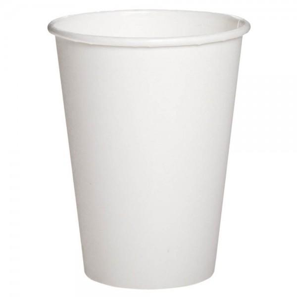 Бумажный стакан белый 180 мл (50 шт/уп)