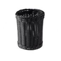 Корзинка для столовых приборов d-12 см черная