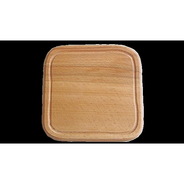 Квадратная доска под пиццу 20 см, бук