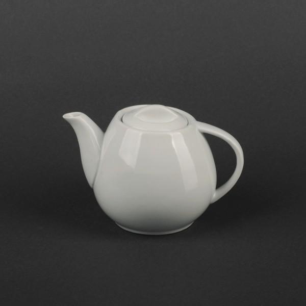 Чайник керамический белый с низкой крышкой 400 мл