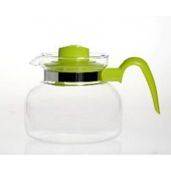 Стеклянный чайник с пластиковым заварником Maja, 1 л (разные цвета)