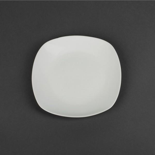 Тарелка квадратная белая фарфоровая, 20,5 мм