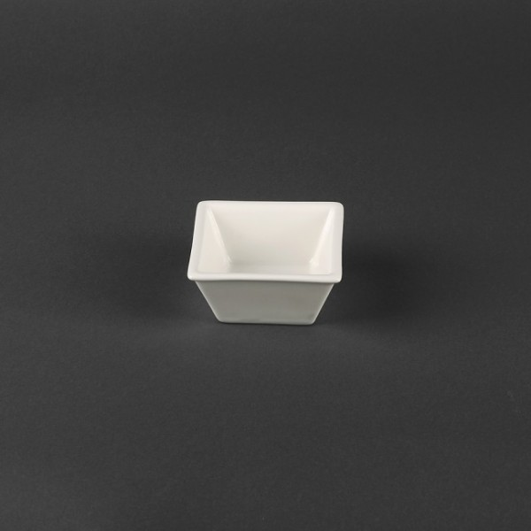 Салатник квадратный белый, 10,2 см