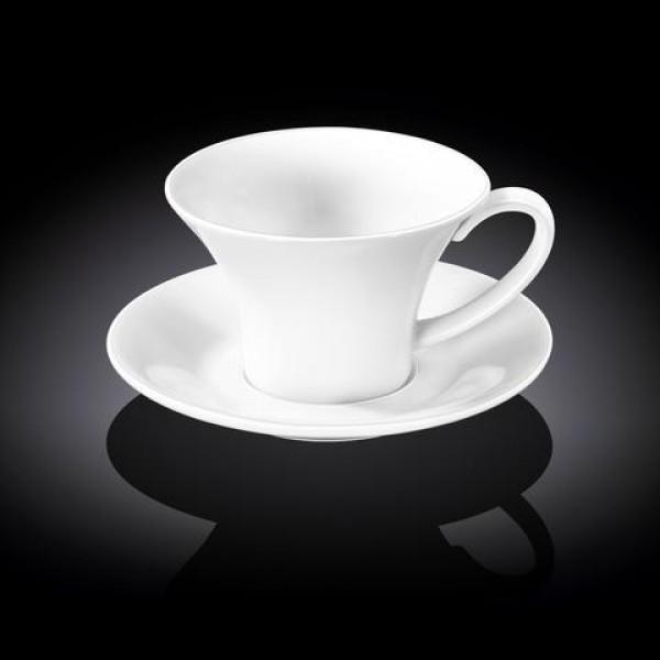 Кофейная чашка с блюдцем Wilmax 100 мл