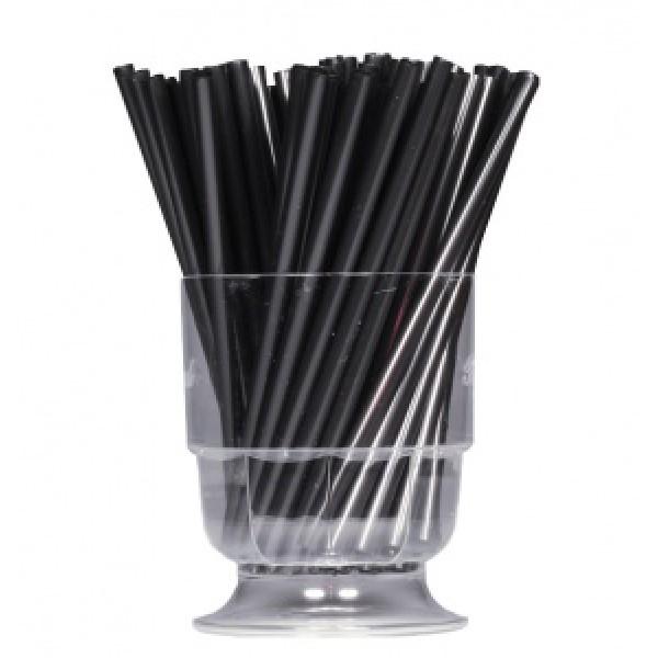 Трубочка для мартини черная, 12.5 см (200 шт/уп)