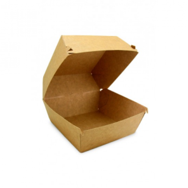 Крафтовая коробка для бургера, 118*118*86 мм (100 шт/уп)