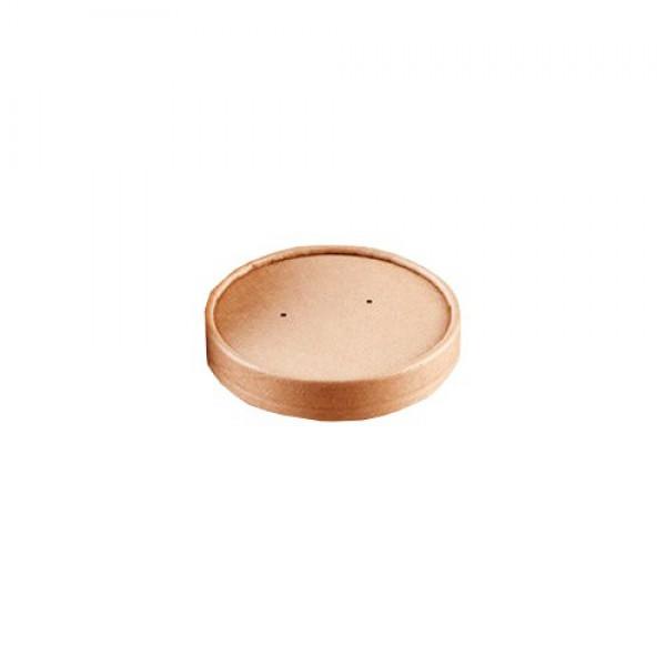 Крышка крафт для супницы 450 мл (97 мм) 50 шт/уп