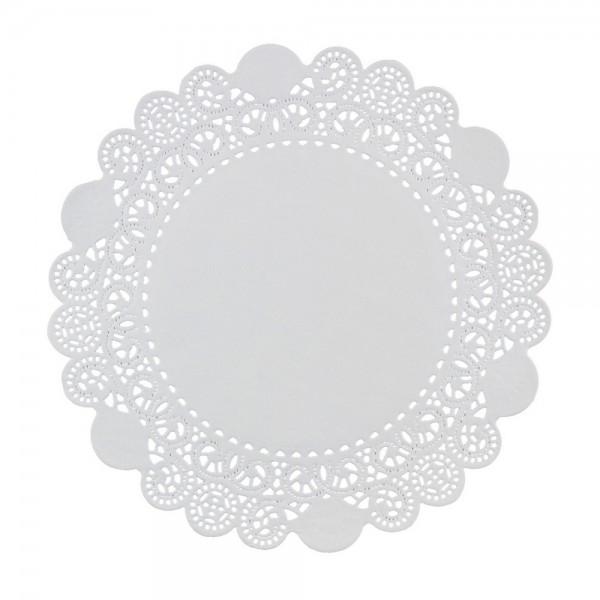 Салфетка ажурная круглая 27 см, 100 шт/уп