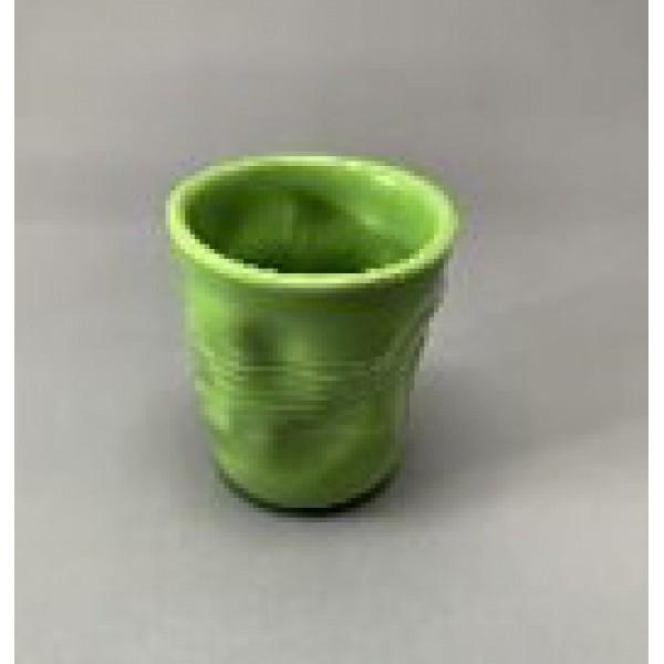 Стакан мятый, керамика, 360 мл, зеленый