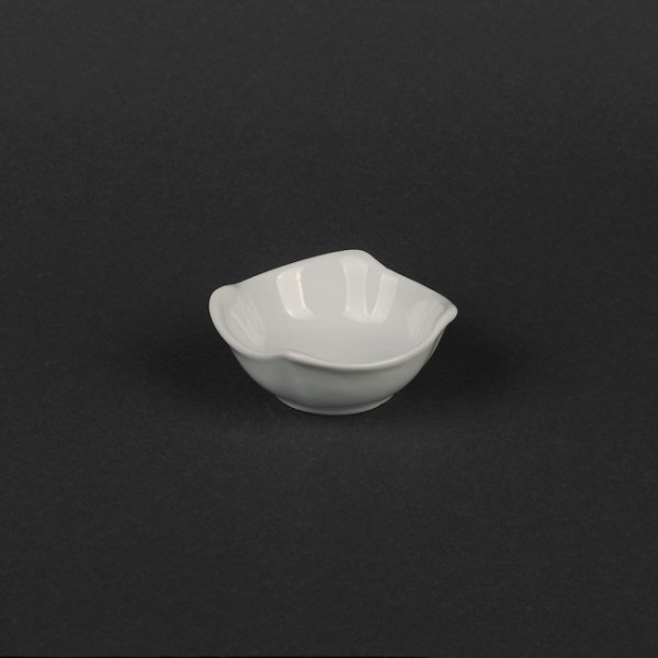 Соусник белый, фигурный, 70х25 мм