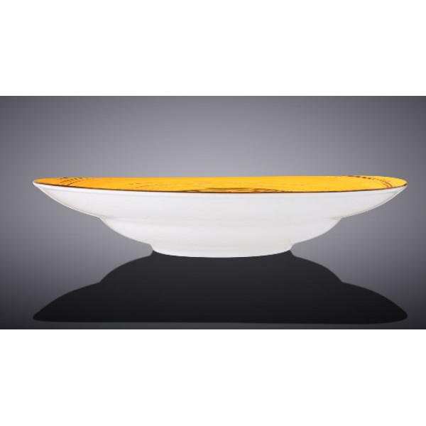 Тарелка глубокая Wilmax SPIRAL YELLOW d25,5см/V350мл