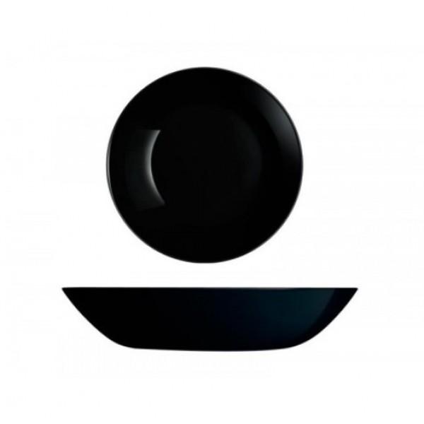 Тарелка суповая Diwali 20 см, черная