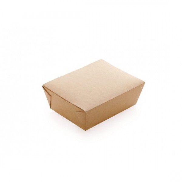 Ланч-бокс бумажный, 600 мл, 150*115*50 мм (50 шт/уп)