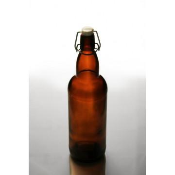 Бутылка коричневая Komfort с бугельной крышкой, 500 мл