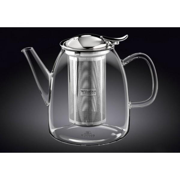Стеклянный термо чайник Wilmax 600 мл