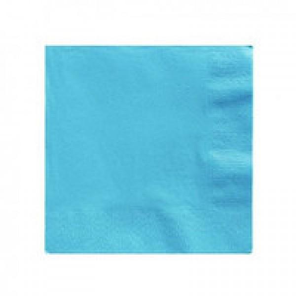 Салфетка 2-х слойная 33х33 см голубая (100шт/уп)